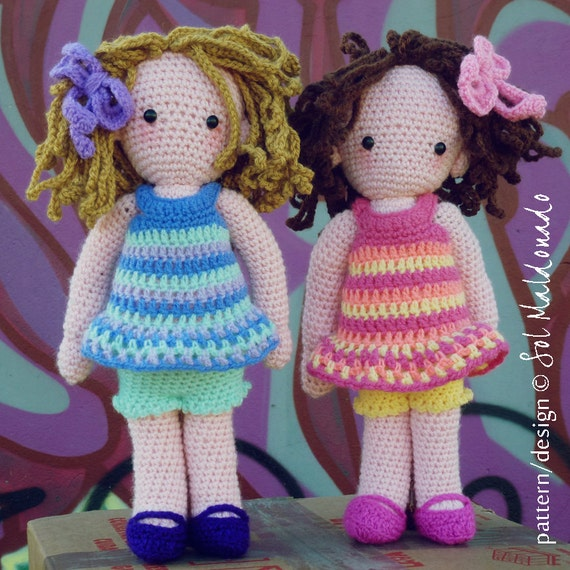 Crochet Patterns Download : Crochet Amigurumi Doll Pattern PDF Instant Download by bySol