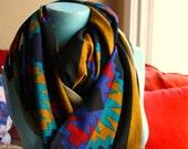 Infinity Scarf, Handmade, Tribal, Ethnic, Printed, Cotton, Knit, Soft, Super Long, Shawl, Shrug, Turban, Nursing Cover...