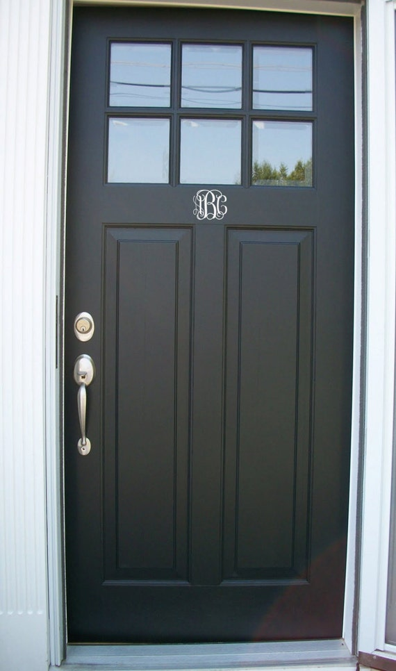 Items Similar To Free Shipping Monogram Front Door Decal Custom Size And Color On Etsy