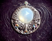 Mother Moon Bindi, celestial, fantasy, wicca, pagan, goddess, tribal fusion, belly dance costume, third eye chakra, spiritual jewelry, fairy