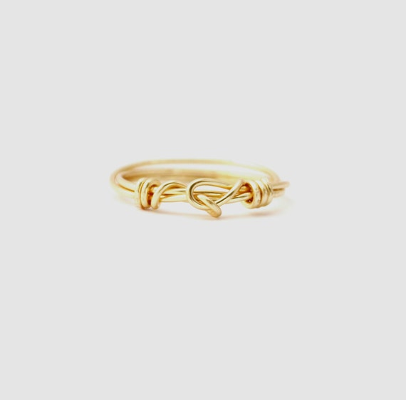items similar to sale simple knot ring in gold