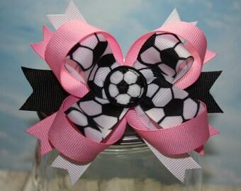 Team Color Soccer Bow