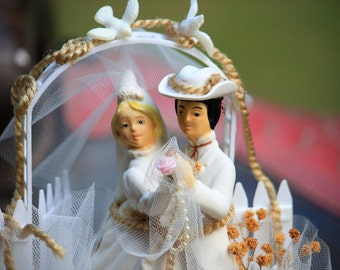 Vintage Country Western Wedding Cake Topper So Vintage Cool One Of A Kind