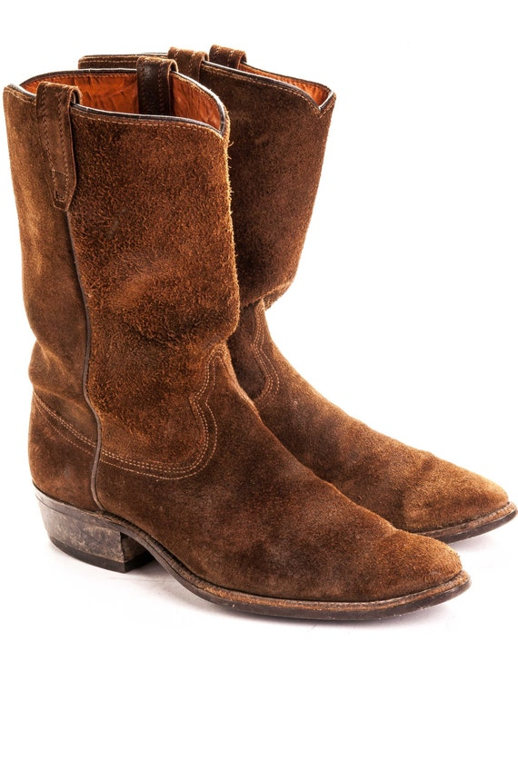 Men's Suede Cowboy boot 11D By Acme Boots