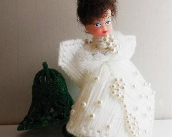 Vintage Handmade Christmas Angel - Christmas Ornament - Christmas Doll