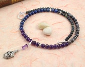 Pregnancy Tracking Necklace - Pick your charm - Starry Sky - Lapis lazuli, amethyst, labradorite