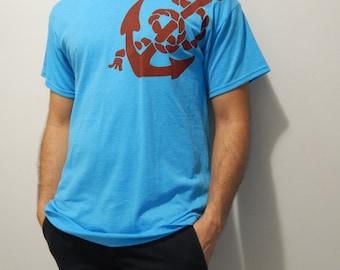 Mens Screen Printed Nautical Anchor Shirt
