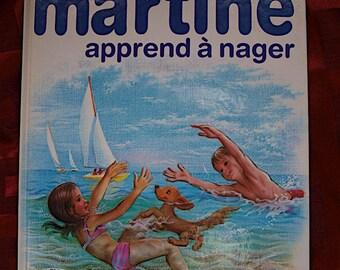 Martine Apprend a Neger Delhaye Marlier Illus French Casterman 1984 Children Book Collection Farandole Swimming Beach Pool