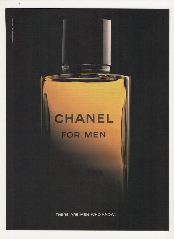 1984 chanel for men advertisement gentleman cologne bottle