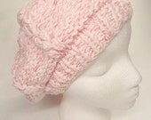 Pink Slouchy Beanie .Hat Tam   Beret  Women   Ready to ship