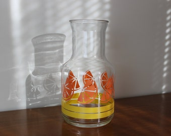 Bright and Sunny Orange Juice Slices Carafe Pitcher