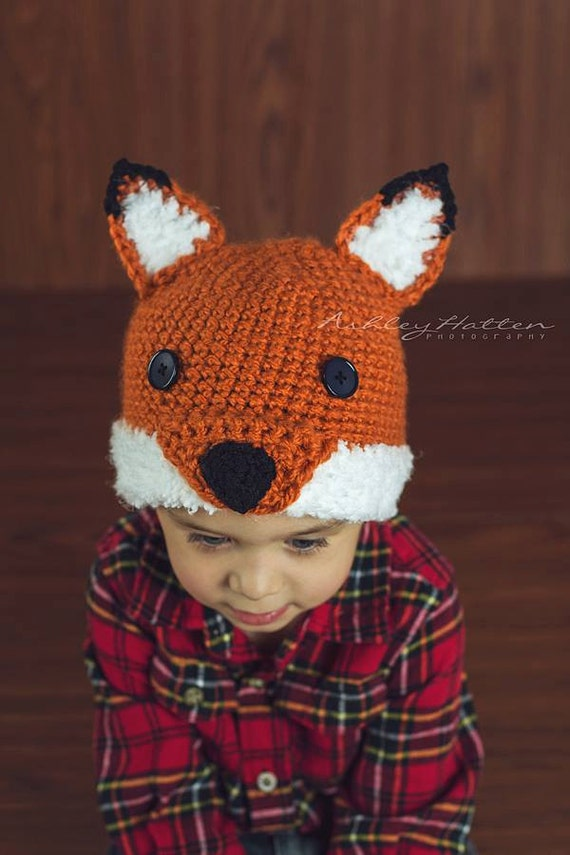 Crochet Pattern For Woodland Fox Or Wolf Hat 6 Sizes Baby