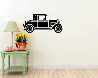 Classic Car Wall DECAL- interior design, sticker art, room, home decor