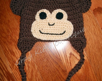 Monkey Hat with braids - All Sizes