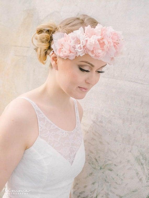 Boho Bride- Flower Halo - Silk Flower Bouquet - Floral Vine