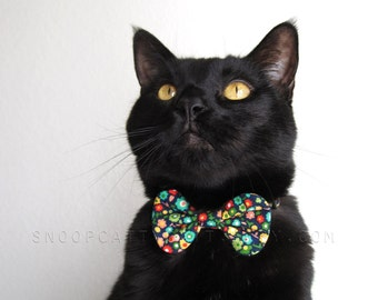 Girl Cat Bow Tie - I Love The Flower Girl