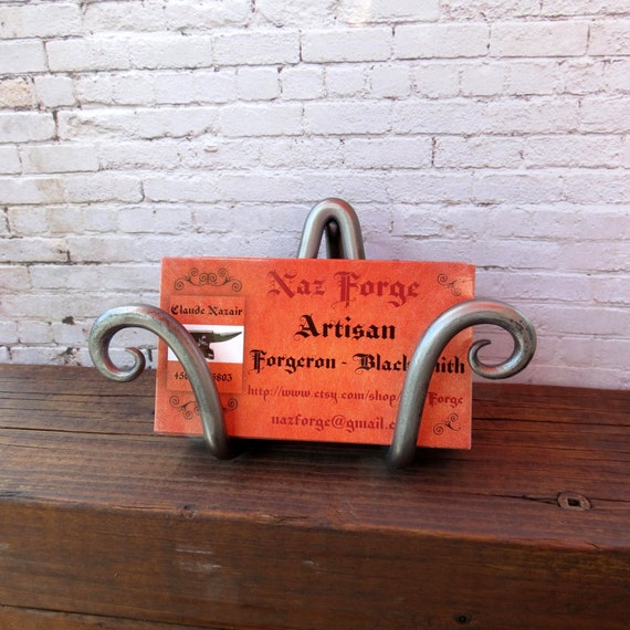BUSINESS CARD HOLDER  Hand Forged by Blacksmith