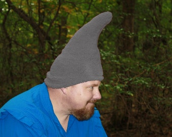 Gnome Hat - Adult size - Ready to ship - Grey
