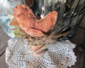 "BIRD PIN POKE Nest ""Lil Scrappers"" Pin Keep Pin Cushion Up cycled Repurposed"