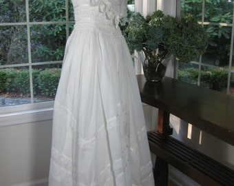 Jessica McClintock vintage wedding dress 70's, 80's - Bona