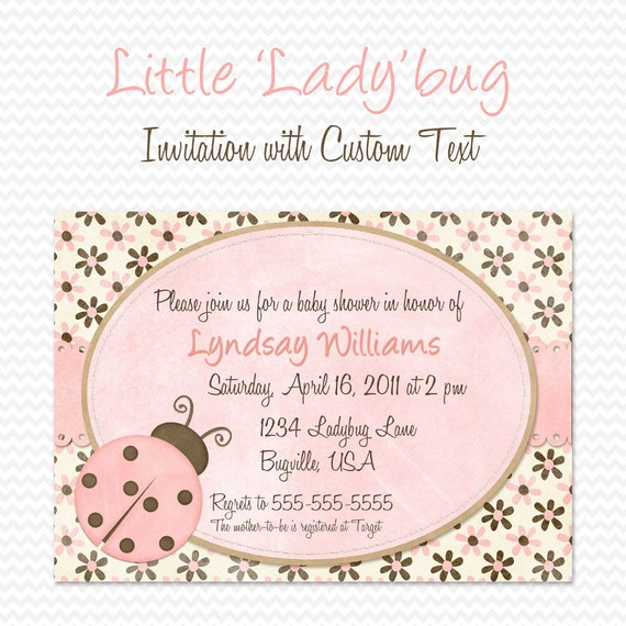 Ladybug Invite was beautiful invitation template