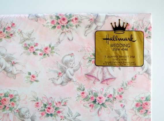 Wedding Gift Paper: Vintage Hallmark Wedding Wrapping Paper Gift Wrap By