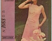 1960s McCall's 1088 Designer Collection Larry Aldrich Misses A Line Dress Vintage Sewing Pattern Bust 36