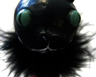 Halloween Cat - Creepy Cat  - Halloween Decor