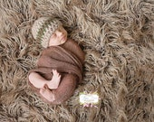 Newborn striped beanie Photography prop (33 color options, available in nb, 1-3mos, 3-6mos, 6-12mos)