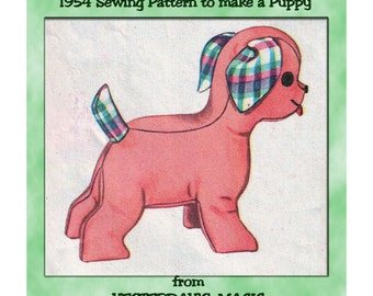 Instant Download PDF Full Size Printable Sewing Pattern to make a 10 inch Tall Cuddly Puppy Dog Bean Bag Soft Baby Toy Pet Animal