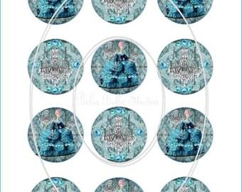 Bella Blue MARIE ANTOINETTE  PRINTABLE Cupcake Toppers Tags Instant Download by Bella Bella Studios
