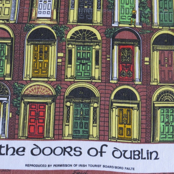 Items Similar To Vintage Doors Of Dublin Tea Towel Dish