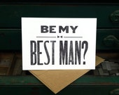 Will You Be My Best Man Card - letterpress best man card