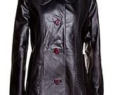 Manteau en cuir recyclé noir  GR large