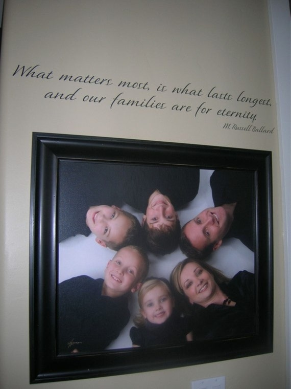 LDS Family Wall Decal Saying Quote Vinyl Lettering