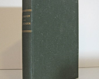 Ludwig van Beethoven 1853 Studien by Ignaz Ritter von Seyfried Second Edition Antique Book One of the First Beethoven Studies Ever Written.