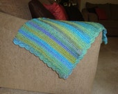 "Large Lakeside Blanket/Throw 50"" x 60"""
