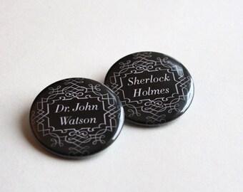 Holmes & Watson | Magnet - Keychain - Pinback Button