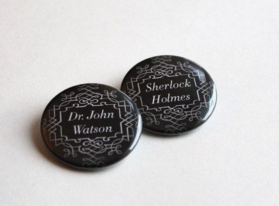 Holmes & Watson   Magnet - Keychain - Pinback Button