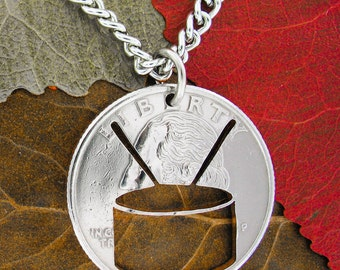 Snare Drum Necklace Marching/School Band Handcut Quarter