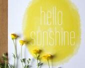 Hello Sunshine Print - Sunny Yellow Nursery Art