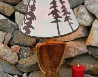 Vase shaped aspen lamp - Log lamp - Rustic lamp - Wood lamp - Cabin lamp - Lodge lamp