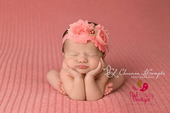 You Pick 2 Baby Headband Set - 54 Color Options - Double Shabby Headbands - Baby Bow Headband-Baby Hair Accessories- Newborn Infant Headband