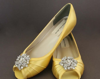 Yellow wedding shoes – Etsy