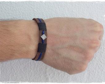 Leather Men's Bracelet, Elven Bracelet Male, Men's Leather Wristband, Celtic Leather Bracelet, Bracelet For Him, Leather Jewelry For Men