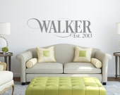 Family Name Decals - Name Wall Decal - Monogram Wall Decal - Last Name Decal-  Family Name Decal