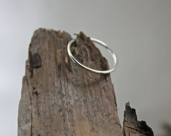Argentium Skinny Stacker - Silver Stacking Ring - Hypoallergenic Knuckle Ring - Simple Stacking Ring - Silver Stack Ring - Everyday Wear