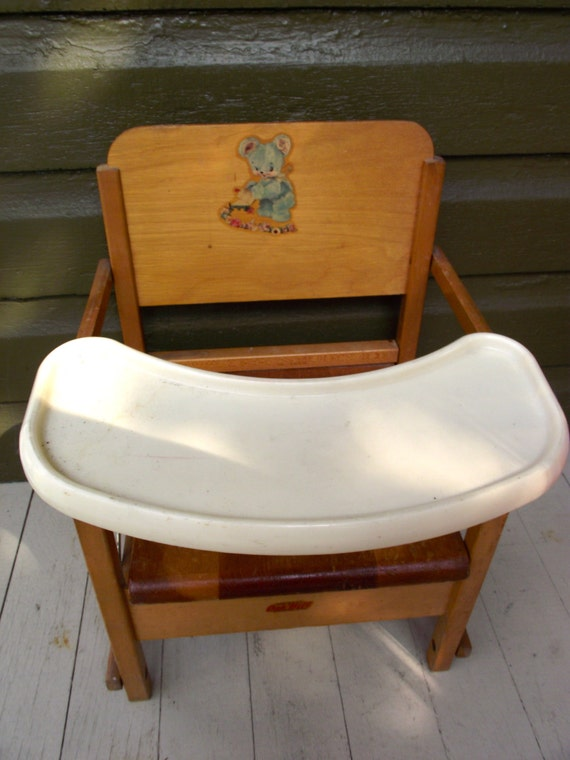 Vintage Folding Potty Chair Wooden Child S Potty Training