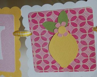 Pink Lemonade Name Banner, Pink Lemonade Birthday, Pink Lemonade Decorations, Pink Lemonade Party