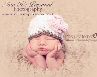 Crochet PATTERN - Crochet Hat Pattern - Crochet Patterns for Girls - Crochet Pattern Baby - Includes 5 Sizes Newborn to Adult - PDF 165
